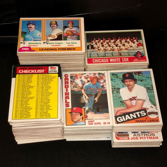 1973-86 Topps Vintage Baseball Lot - 450+ cards